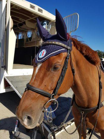 Johnny looking great in his new Barastoc ear bonnet