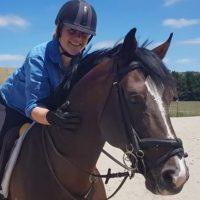 Sarah proudly rode Oaks Volta today