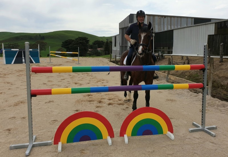 Oaks Volta training for the Australian Showjumping Championships